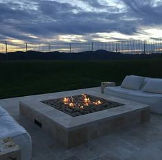 The outdoor fire pit.