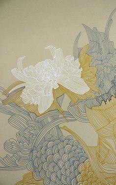 Ideas For House Illustration Art Artworks Art Inspo, Inspiration Art, Abstract Illustration, Art Et Illustration, Flower Illustrations, Art Asiatique, Art Japonais, Art Design, Textile Design