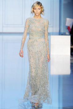 Elie Saab Fall 2011 Couture Fashion Show - Anja Rubik
