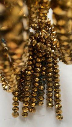 Golden Glass Beads | Work Aesthetics | Behind the Scenes Tassel Bracelet, Bangles, Bracelets, Pink Aesthetic, Gold Beads, Behind The Scenes, Glass Beads, Jewelry Design, Aesthetics