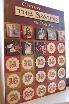 Christ the Savior is Born Advent Calendar - 25+ Christmas advent calendar ideas - NoBiggie.net