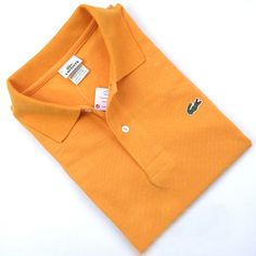 Men's Lacoste Polo  Short Sleeve Shirt Tangere Orange    #CheapLacoste #CheapLacosteLongSleeve #Polos #LacostePolos #LacostePoloShirts #StylishLacosteShirts #LacosteForCheap