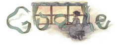 """GOOGLE Art -- """"Gustave Flaubert's 190th Birthday"""" _____________________________ Reposted by Dr. Veronica Lee, DNP (Depew/Buffalo, NY, US)"""