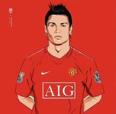 Cristiano Ronaldo Images, Cristiano Ronaldo Manchester, Football Art, World Football, Soccer Drawing, Cristano Ronaldo, Marvel Comics Superheroes, Manchester United Football, Professional Football