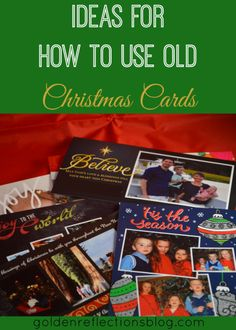 How To Use Old Christmas Cards: Magnetic Picture Frames Christmas Card Crafts, Christmas Music, Holiday Crafts, Christmas Holidays, Christmas Decorations, Recycled Christmas Cards, Holiday Ideas, Christmas Ideas, Old Greeting Cards