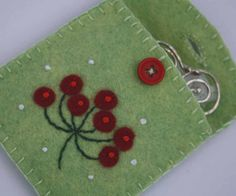 Felt berry purse Christmas gift bag