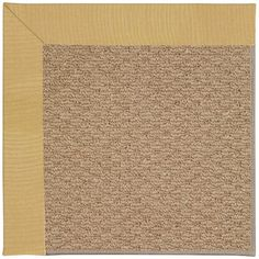 Capel Zoe Machine Tufted Wheatfield/Brown Area Rug Rug Size: 7' x 9'