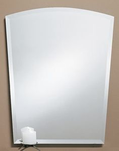 319 – Frameless Arch top mirror. Features a 1″ beveled edge. 24″ wide, 30″ high and 3/8″ deep.