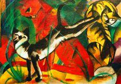 Franz Marc - Drei Katzen - jetzt bestellen auf kunst-fuer-alle.de