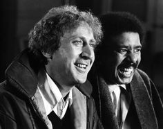 Richard Pryor: American stand-up comedian, actor, social critic, writer, and MC. With Gene Wilder.