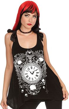 Moth Death Skull Women/'s Racer Back Tank Top Shirt Goth Punk Alternative Grunge