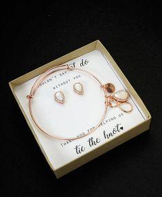 PEARL Bridesmaid Earrings pearl Bridesmaid Jewelry Gold pearl Bridesmaid Gift Set pearl Bridal Jewelry Set pearl Bridal Earrings rose Gold