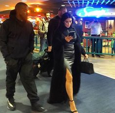 Kim & Kanye at JFK airport in NYC - April 16, 2016