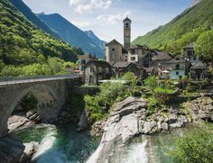 Lavertezzo, Switzerland, a great starting point for exploring Valle Verzasca, by Thierry Hennet on Flickr