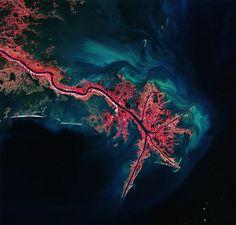 Le delta du Mississippi par l'Agence spatiale européenne