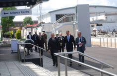HRH #PrinceWilliam The Duke of Cambridge makes his way back to the Alliance Centre to meet the people associated with the #HMSAlliance project