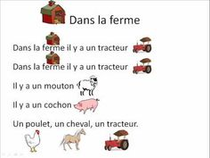 Dans la ferme - French lesson and song