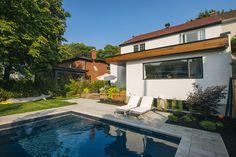 Nice Architecture / Contemporain / Agrandissement / Bois / Terrasse / Piscine /  Pavé / Mobilier Extérieur