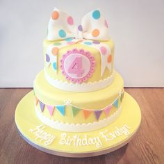 Colourful Spotty Birthday Cake