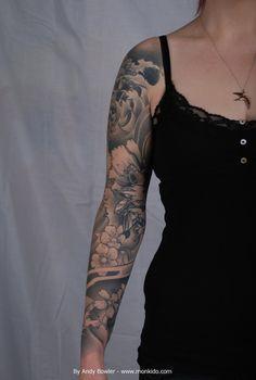 Monki Do Tattoo Studio: Custom Japanese Sleeve by Andy Bowler, Monki Do Tattoo Studio