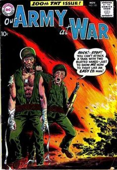 Joe Kubert cover art: Sgt Rock in Our Army at War #100