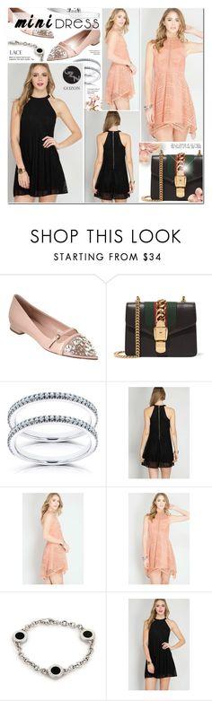 """Mini Dresses - Gozon 2"" by anyasdesigns ❤ liked on Polyvore featuring Miu Miu, Gucci, Kobelli and Bulgari"