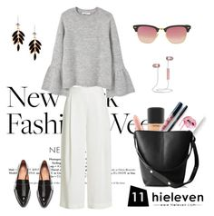"""""""Black, White & Grey"""" by hielevencom ❤ liked on Polyvore featuring MAC Cosmetics, Diane Von Furstenberg, Kylie Cosmetics, Handle, Ray-Ban and MANGO"""