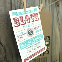 Im definitely using this cute printable for our next neighborhood block party invitation design kat stopboris Gallery