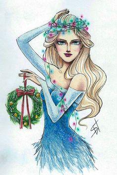 Christmas Elsa by ShiNasty on DeviantArt
