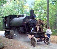 The Lombard Steam Log Hauler Geschiedenis en video van een gerestaureerde Beast Operating!