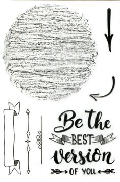 "Craft sensations Clear stamp ""Be the best version of you"" (Babs)"