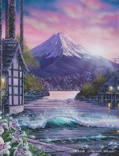 grafika anime, art, and scenery Fantasy Landscape, Landscape Art, Fantasy Art, Casa Anime, Anime Gifs, Anime Places, Episode Backgrounds, Anime Kunst, Anime Scenery Wallpaper