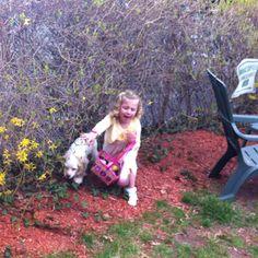 Sully hunts for Easter Eggs ....