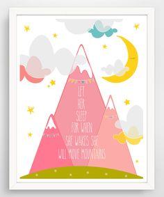 Loving this Pink 'Let Her Sleep' Canvas Wall Art on #zulily! #zulilyfinds