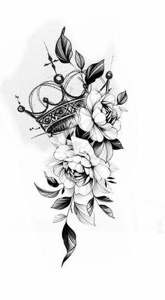 Floral Tattoo Design, Flower Tattoo Designs, Flower Tattoos, Floral Mandala Tattoo, Lotusblume Tattoo, Henna Tattoo Hand, Cover Tattoo, Rose Drawing Tattoo, Tattoo Drawings
