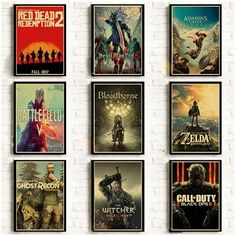 Aliexpress Wall Decor, Wall Art, Poster Wall, Movie Prints, Cheap Paintings, Wall Prints, Red Dead Redemption, House Rooms, Retro
