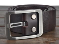 Shop for on Etsy, the place to express your creativity through the buying and selling of handmade and vintage goods. Black Leather Belt, Leather Belts, Leather Men, Dress Belts, Men Looks, Belted Dress, Trending Outfits, Unique Jewelry, Accessories