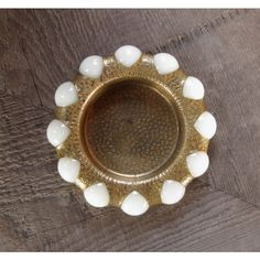 SALE Fisher Jewel Tray, Brass Dish With Vintage White Glass Marbles,... ($39) ❤ liked on Polyvore featuring home, home decor, small item storage, vintage glass tray, marble trays, glass dish, vintage home decor and white dish