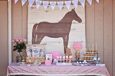 Love the horse backdrop, could easily make for girls bedroom using old pallets, and a projection machine for the silhouette.