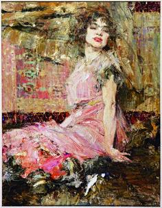 Nicolai Fechin, Lady in Pink(Portrait of Natalia Podbelskaya), 1912, Frye Art Museum