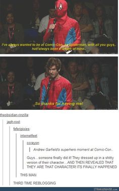 This is why I love Andrew Garfield.