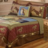 Found it at Wayfair - Horses Quilt with Sham, Pillow, Dustruffle, Valance