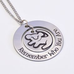 Lion King Personalized Jewelry Remember Who You Are by carenslaser, $25.00