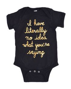 e17160533 Baby Romper in Black or Grey - I'm New Here - gold hand lettering on  adorable infant bodysuit