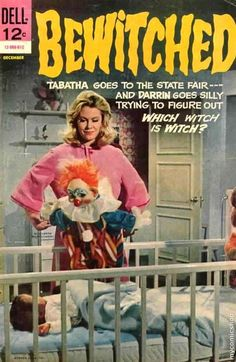 John Kenneth Muir's Reflections on Cult Movies and Classic TV: Comic-Book of the Week: Bewitched (Dell Edition) Agnes Moorehead, Vintage Comic Books, Vintage Comics, Vintage Toys, Vintage Magazines, Bewitched Tv Show, Bewitched Elizabeth Montgomery, Which Witch, Old Comics