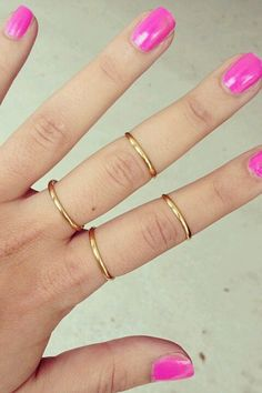 I love gold jewelry, especially rings