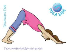 You don't have to ask kids twice to pop into Downward Dog pose - it seems automatic! It's great for strengthening the arms and shoulders while building flexibility in the hamstrings and length in the spine. However, like all inversions, this pose can be invigorating, so it may not be the best pose to practice right before bedtime.  #kidsyoga #downwarddog pose #yoga