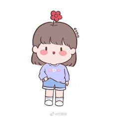 Cute Little Drawings, Cute Cartoon Drawings, Cartoon Girl Drawing, Girl Cartoon, Molang, Cute Icons, Cartoon Wallpaper, Cute Girls, Chibi