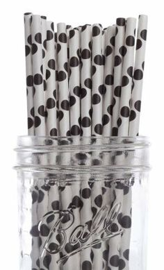 Dress My Cupcake Black Polka Dot Paper Straws, 25-Pack by Dress My Cupcake. $10.00. Made from all natural material with food grade ink. These paper straws are 100-percent biodegradable. FDA approved. Pack of 25 Retro Black Polka Dot Paper Drinking Straws (7-3/4-inch long)-Great for any occasion. Our paper drinking straws are long-lasting, strong and durable, making them great for birthdays, weddings, picnics and much more. Dress My Cupcake is the world's largest manufact...
