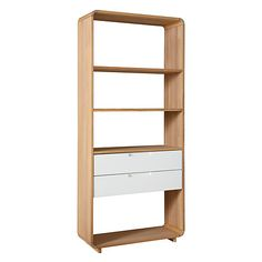 Buy Oak Ebbe Gehl for John Lewis Mira 2 Drawer Bookcase, Wide from our Bookcases, Shelving Units & Shelves range at John Lewis & Partners. Casual Living Rooms, Living Room Decor, Dining Room, Alcove Storage, Flat Plan, Glass Book, Solid Oak, John Lewis, Bookshelves